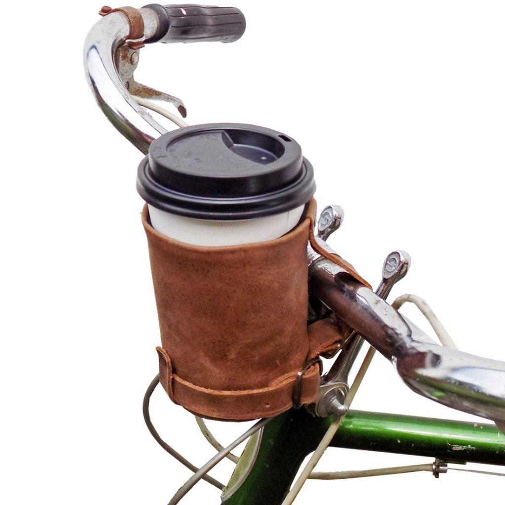 Cruzy Leather Bike Cup Holder