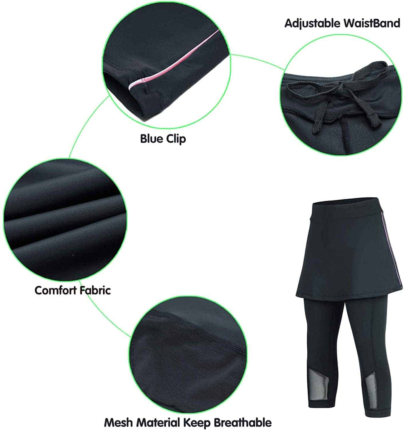 ANIVIVO Women Padded Bicycle Skirted Tights