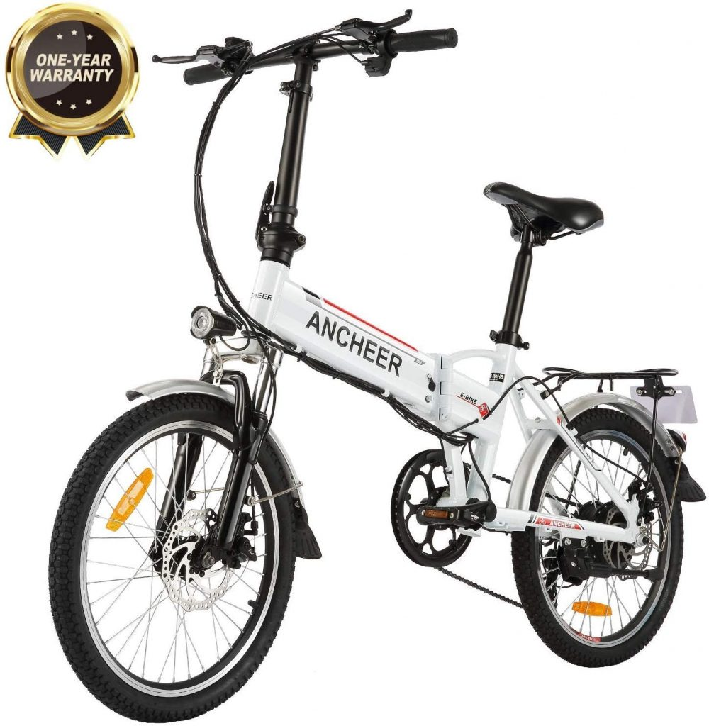ANCHEER 20-Inch-Wheel Folding Electric Bike