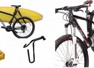 Surfboard rack for bike
