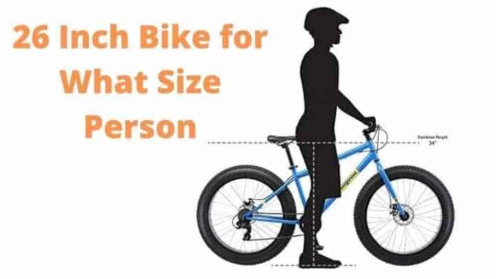26-inch bike for what size person